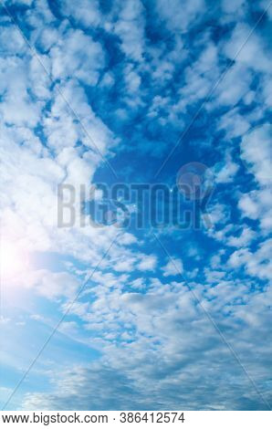 Dramatic blue sky background, vast sky landscape panoramic scene. Sky landscape.colourful sky background. Sunny sky view with fluffy clouds, sky scene, vast sky landscape view. Dramatic sky background