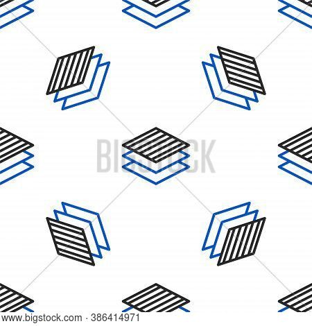 Line Textile Fabric Roll Icon Isolated Seamless Pattern On White Background. Roll, Mat, Rug, Cloth,
