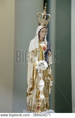 Statue Of The Image Of Our Lady Of Mercy Or Our Lady Of Mercedes, One Of The Designations Attributed