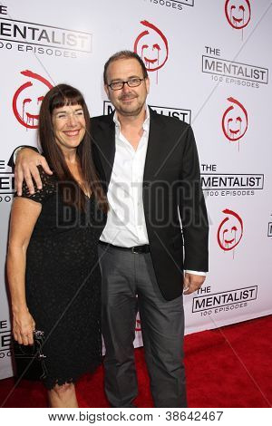 """LOS ANGELES - OCT 11:  Daniel Cerone arrives at """"The Mentalist"""" 100th Episode Party at The Edison on October 11, 2012 in Los Angeles, CA"""