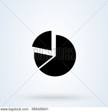 Business Pie Chart Sign Icon Or Logo. Presentations And Infographic Concept. Pie Chart Infographic E