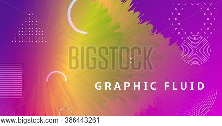Vibrant Design. Flow Dynamic Movement. Abstract Wallpaper. Vector Music Vibrant Design. Geometric Fl
