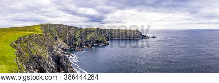 Aerial View Of Wild Coast By Glencolumbkille In County Donegal, Irleand.