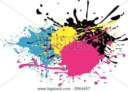 Cmyk Paint Splat