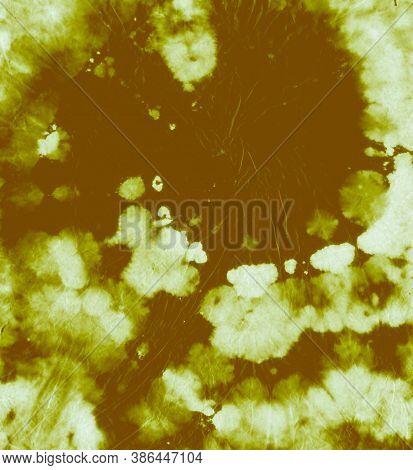 Tie Dye Circular. Color Psychedelic Texture. Abstract Spiral Kaleidoscope. Green Tye Dye Paint. Circ