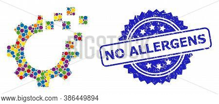 Vibrant Mosaic Auto Gear Repair, And No Allergens Scratched Rosette Stamp Seal. Blue Stamp Includes