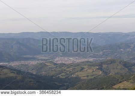 Tara Mountain Landscape At The Viewpoint Named Crnjeskovo. Western Serbia