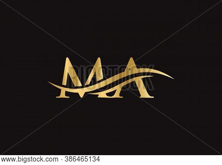 Initial Ma Letters Logo Modern Trendy. Ma Logo Design For Business Corporate Sign