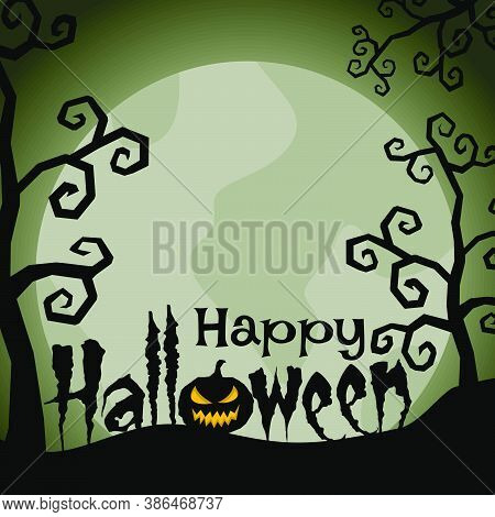 Happy Halloween Background With Corpse Bride Concept Design.
