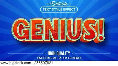 Editable Text Style Effect - Genius Theme Style.