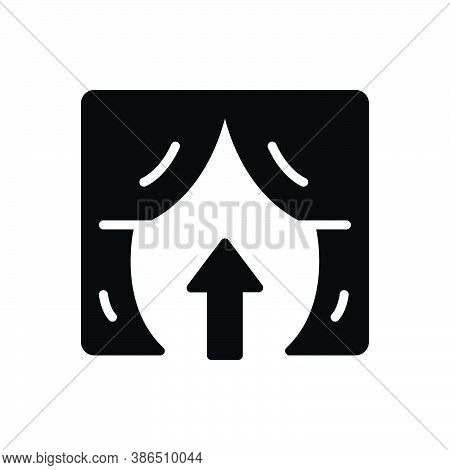 Black Solid Icon For Entry Arrival Penetration Admittance Exit Entrance Gateway Inlet Door Approach