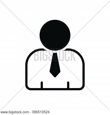 Black Solid Icon For Human People Guy Adult Man Person Manhood Gentleman Man Male Fellow Avatar