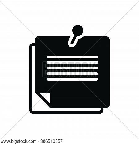 Black Solid Icon For Remember Review Memory Notepaper Reminder Feedback Flashback Recall Memorize