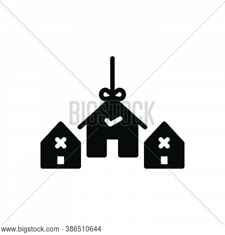 Black Solid Icon For Choice Preference Decision House Mortgage Option Home Variety Decision-making S
