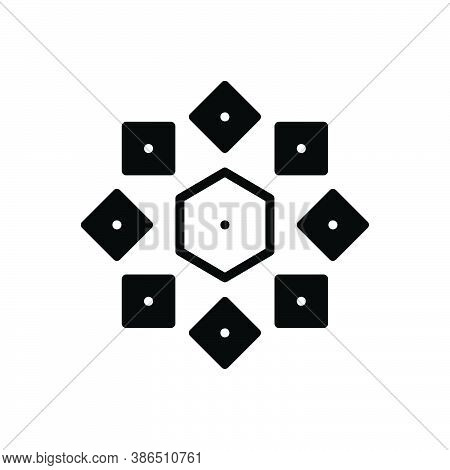 Black Solid Icon For Difference Disparity Odds Spacing  Unsimilarity Variety Difference Distinction