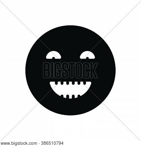Black Solid Icon For Humor Laughter Jocularity Jocosity Humour Comedy Joke Hilarity Playfulness Whim