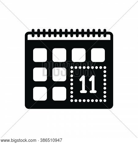 Black Solid Icon For Remind Leisure-time Calendar Appointment Reminisce Remind-of Remise Leave Holid