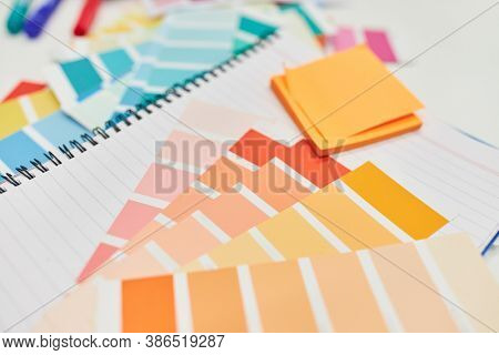 Materials and paper for color design and graphic design