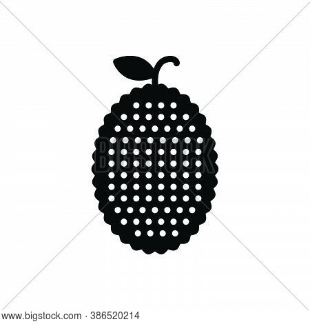Black Solid Icon For Jackfruit Jack-tree Mulberry Vegetable Agriculture Cultivation Plant Farming