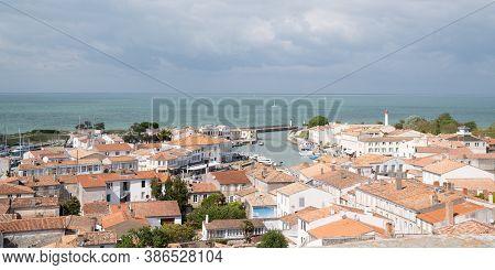 Saint Martin En Re - Ile De Re  Nouvelle Aquitaine / France - 05 03 2019 : Aerial View Of Saint-mart