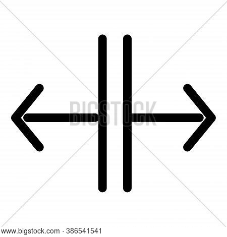 Vertical Split Arrows Icon - Vector Illustration. Divide Arrows Sign.