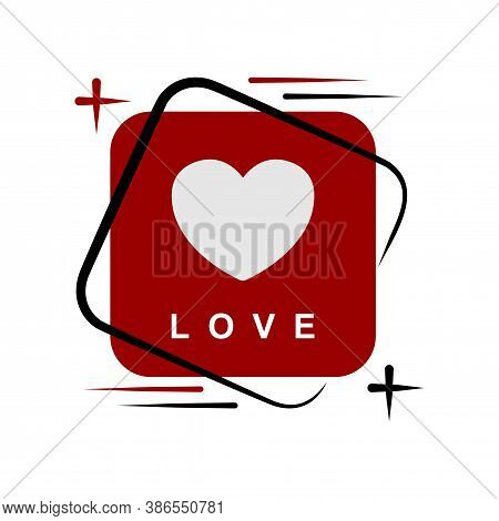 Heart In Speech Talk Icon For Isolated, Speech Bubble Chat And Heart Shape For Love Talk Concept, He