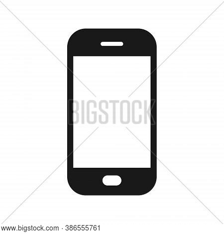 Smart Phone Vector Icon. Web And Application Interface Button Symbol. Smartphone Sign. Black Telepho
