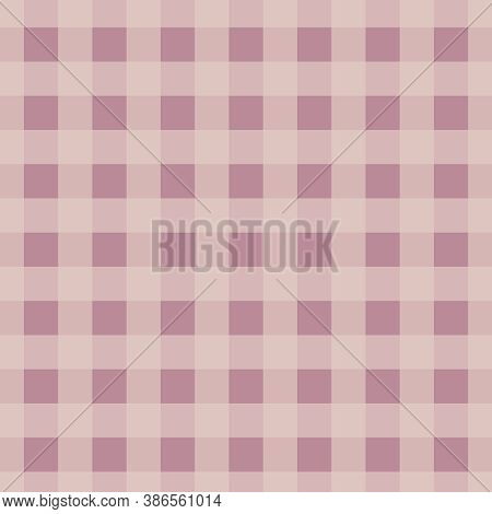 Mauve Buffalo Checkered Pattern With Coral Peach In 12x12 Design Elements For Plaid Backgrounds.
