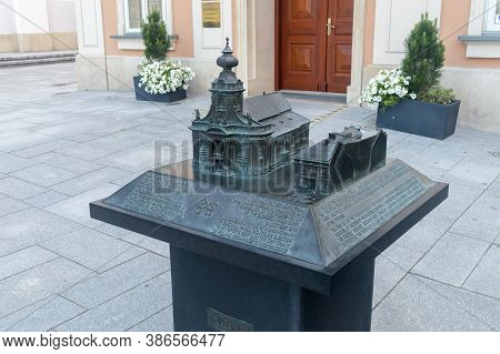 Wadowice, Poland - June 15, 2020: Scale Model Of Museum Is The Family Home Of Saint John Paul Ii's F