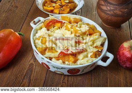 Squash, Ricotta  Sage Pasta Bake