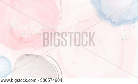 Creative Abstract Background With Shapes Of Pastel Watercolor.  Artistic Stain Vector Good For Decor