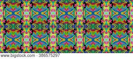 Portuguese Watercolor Tile. African Rug. Arabic Element. Portuguese Watercolor Texture. Colorful Tri