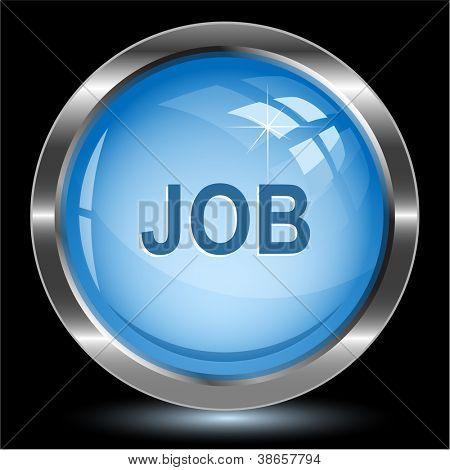 Job. Internet button. Raster illustration.