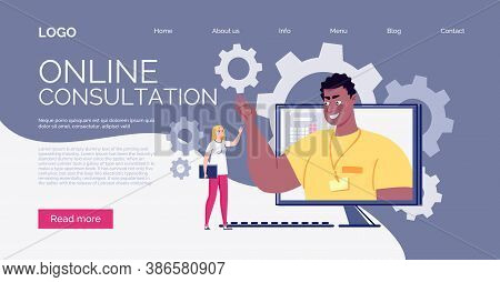 Website Template. E-learning, Online Learning. Technology And Digital Culture. The Teacher Teaches T