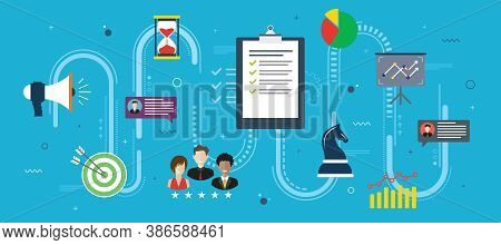 Strategic Project Management, Communication And Marketing. Concept Of Project Management, Business W