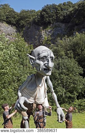 Weston-super-mare, Uk - September 21, 2019: Gnomus, Caretaker Of The Earth At The Old Town Quarry. B