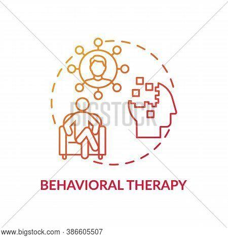 Behavioral Therapy Concept Icon. Mental Health Disorder Treatment Idea Thin Line Illustration. Probl