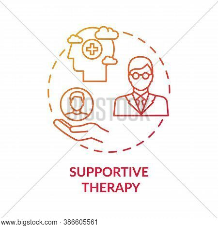 Supportive Therapy Concept Icon. Physiological Well-being Improvement Idea Thin Line Illustration. D