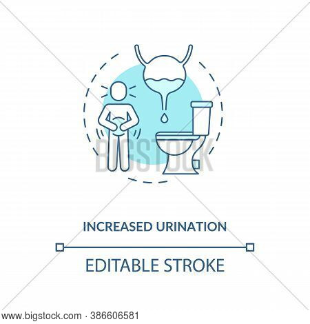 Increased Urination Concept Icon. Energetics Side Effects Idea Thin Line Illustration. Excessive Thi