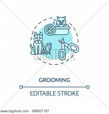 Grooming Concept Icon. Pet Services. Animal Style Care Salon. Little Companion Health. Vetirenary Id