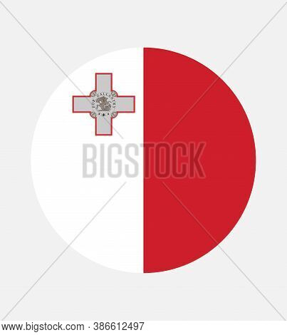 National Malta Flag, Official Colors And Proportion Correctly. National  Malta Flag.