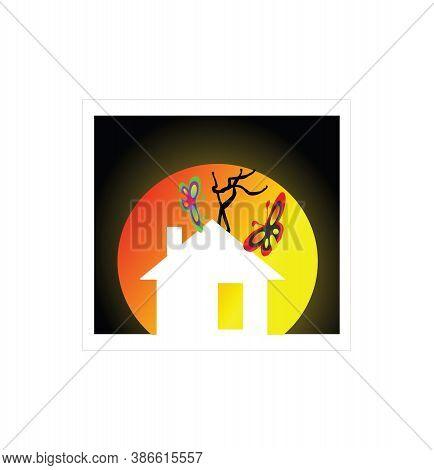 Butterfly House Logo. Butterfly Breeding House Logo. Butterfly Breeding Logo Full Of Various Kinds O