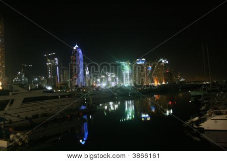 Reflections Nightlights Marina Dubai