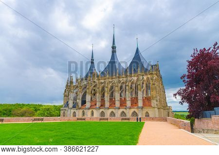 Saint Barbaras Church Cathedral Of St Barbara Roman Catholic Church Gothic Style Building In Kutna H