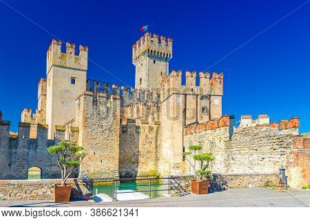 Scaligero Castle Castello Di Sirmione Fortress From Scaliger Era In Historical Center Of Sirmione To