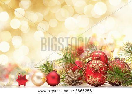 Decoração de Natal em abstrato