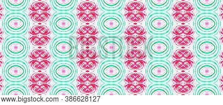 Folk Tribal Seamless Pattern. Abstract Fashion Illustration. Bohemian Native Textile. Colorful Strip