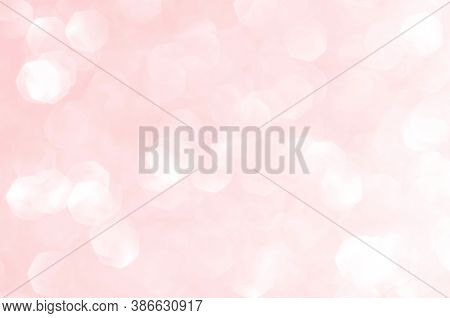 Pink Gold, Pink Rose Bokeh,circle Abstract Light Background,pink Gold Shining Lights, Sparkling Glit