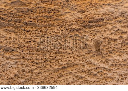 Geoforms In The Rocks Of Playa Los Escullos In The Natural Park Of Cabo De Gata, Nijar, Andalucia. S