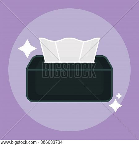Isolated Tissue Box Icon. Cleaning Products Icon - Vector